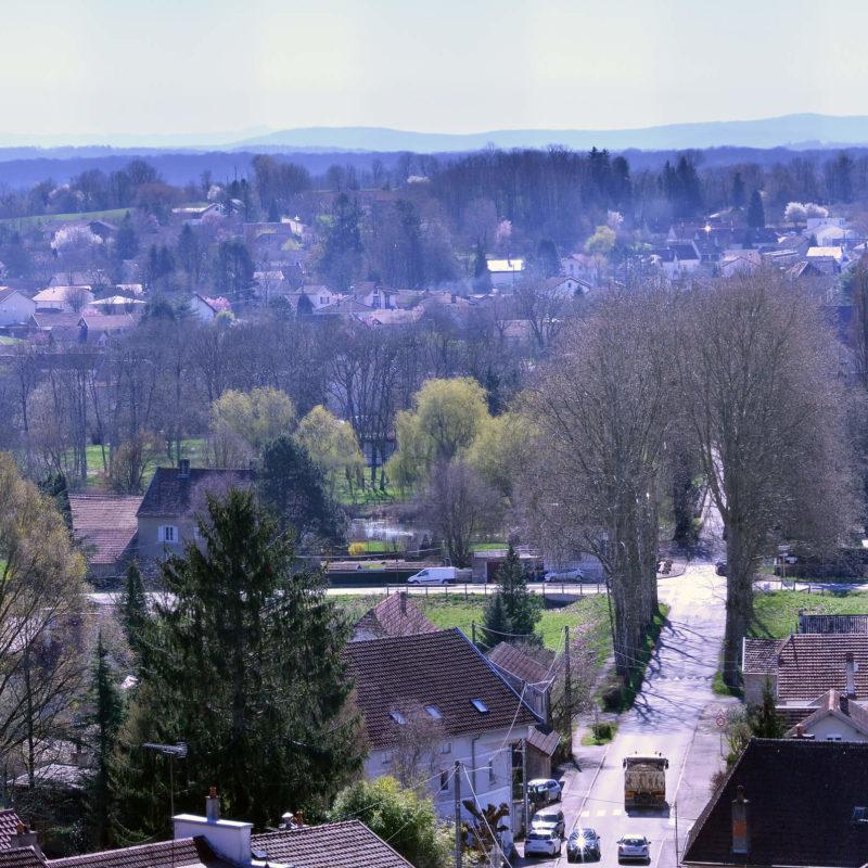 Commune-Emagny-Doubs-accueil-accès-vue-aérienne