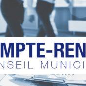 Compte rendu du Conseil Municipal du 15 janvier 2021