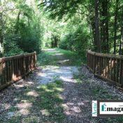 Le pont de la voie verte en allant vers Moncley mis en sécurité